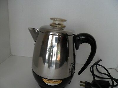 vintage deco stainles steel ge pot belly electric percolator coffee maker cad 38 06