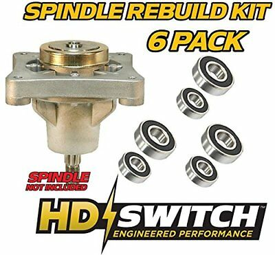 3 REPLACEMENT HUSTLER Mower Blade Deck Spindle Assembly 604214