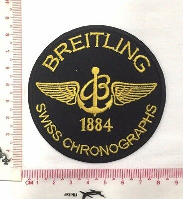 Breitling Swiss Chronographs Emblem Sew Iron-On Embroidered Applique Patch Badge