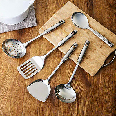 Stainless Steel Cooking Utensil Kitchen Tools Gift Set Spatula Spoon New.