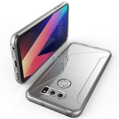 V30 Plus Case Clear Soft S-Line Gel TPU Silicone Case Skin Cover For LG V30