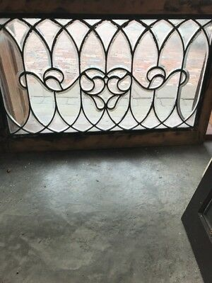Sg 1722 Antique Swirly Beveled Transom Window And 22 1/2 X 36