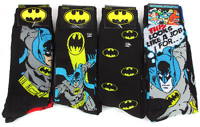 c69fa708db9c 1 PAIR DC Comics Batman Men's Crew Socks Shoe Size 6-12 Sock Size 10 ...