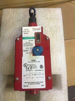 New Honeywell 1CPSA2 Cable Pull Safety Switch