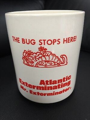 """Exterminating Advertising Cup-""""The Bug Stops Here!"""" RARE"""