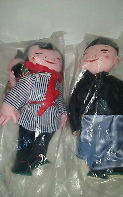 (Michael Lee Dolls) Girl With Baby Child #403 And Man #401. New With Tags!