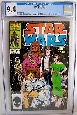 Star Wars A New Hope No. 107 Last Issue 1986 CGC 9.4 White Pages - Marvel