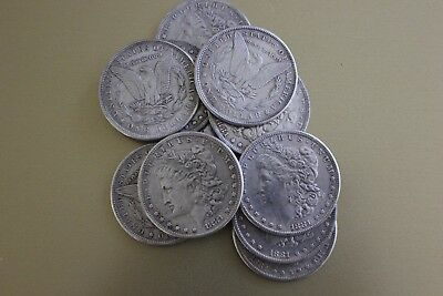 (10) Reenactment Coins 1881 Morgan Dollars (copy) Old West Wyatt Earp OK Corral