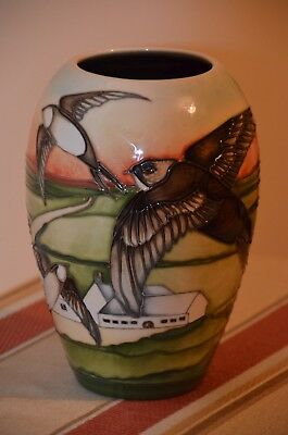 """Moorcroft Vase """"Swifts"""" by K Goodwin part of the Countryside Collection 102/7"""