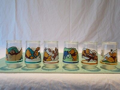 Winnie the Pooh Collectible Glasses Welch's Jars New Set/6