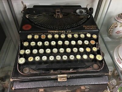 Vintage Remington Home Portable Typewriter