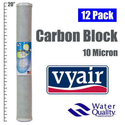 "12 x 20"" CARBON BLOCK 10 MICRON TASTE AND ODOUR REVERSE OSMOSIS WATER FILTER"