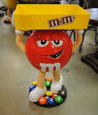 NEW M&M Red Character Candy Store Display with Storage Tray local pick up
