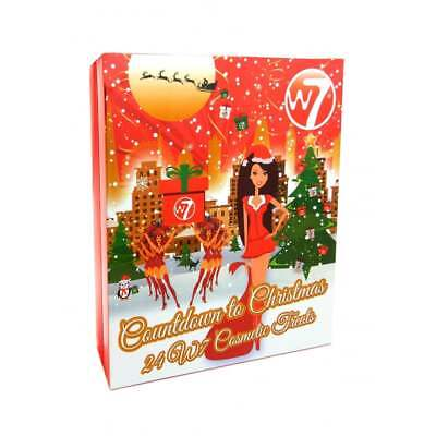 W7 Countdown To Christmas Advent Calender 24 Cosmetic Treats New 2017