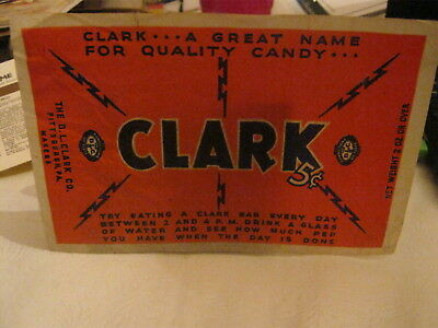 Very Early Old Vintage CLARK Candy Bar Wrapper 1920's - 1930's very nice !!
