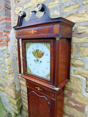 "Antique Restored ""moon Roller"" Longcase / Grandfather Clock Rare Winsford Maker"