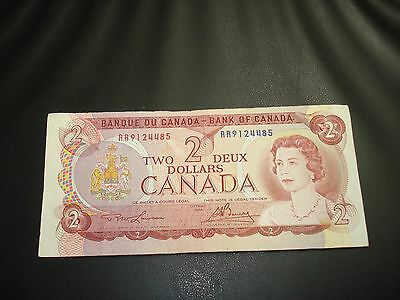 1974 - Bank of Canada $2 note - two dollar bill - RR9124485