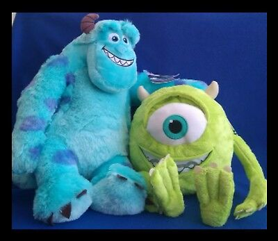 """Disney - Monsters Inc - Mike and Sully - 20"""" Supersoft Plushs - BRAND NEW"""