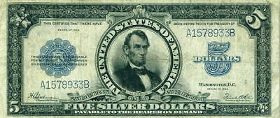 1923 Lincoln Porthole $5 Note ~Reproduction~