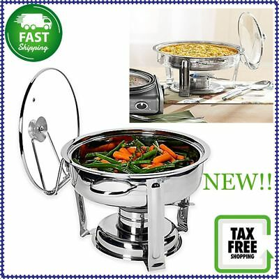 NEW! Denmark 7-Piece 4 Qt. Stainless Steel Chafing Dish With  Tempered Glass Lid