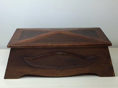 19 century mortise and tenon hand crafted mustache box