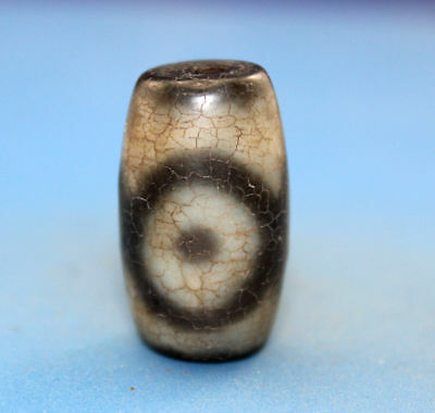 24*14 mm Antique Dzi  Agate old  3  eyes  Bead  from Tibet ***Free shipping***