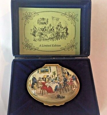 Halcyon Days Bilston & Battersea Limited Edition Oval 1980 Christmas Box