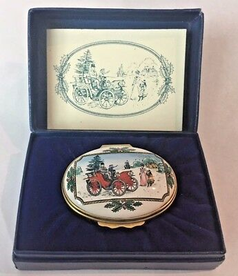 Halcyon Days Bilston & Battersea 1981 Limited Edition Oval Christmas Enamel