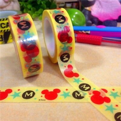 Mickey Mouse 1.5cm X 7m Washi Tape DIY Scrapbook Album Diary - n