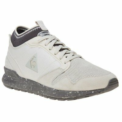 New Mens Le Coq Sportif Natural Omicron Premium Granit Suede Trainers Running