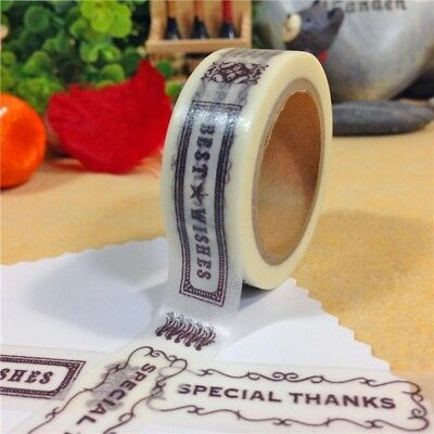 Best Wishes Special You 1.5cm X 7m Washi Tape DIY Scrapbook Album Diary - n