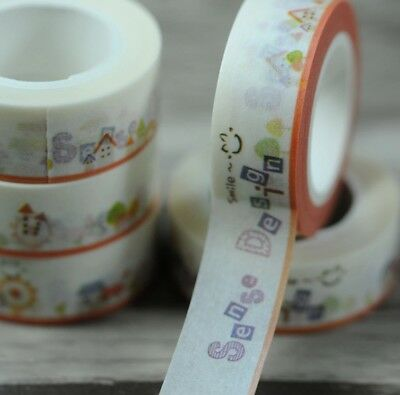 Smile Playground 1.5cm X 5m Washi Tape DIY Scrapbook Album Diary - n