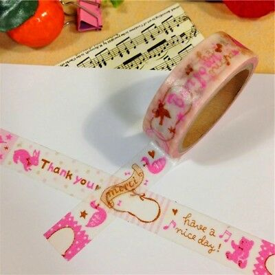Thank You Have A Nice Day 1.5cm X 7m Washi Tape DIY Scrapbook Album Diary - n