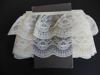Card of New Gathered Lace - Cream