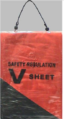 New Safety Distress Signal V-Sheet Orange Marine Boat Require./regulation 7120