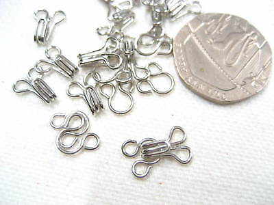 20sets silver Hook and Eye Fasteners skirt dress Bra Sew On dress collar hook