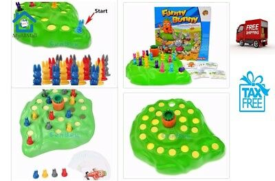Funny Bunny Rabbit Children Board Trap Game Rabbit Checkers Parent Interaction