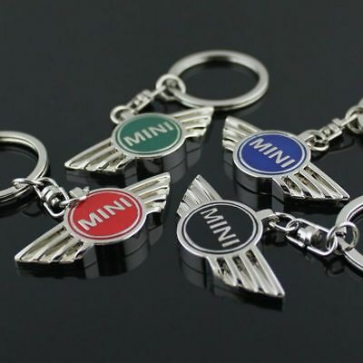 Mini Cooper Car Key Ring Chain Titanium Badge Keychain Chrome Metal