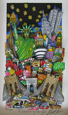 Charles Fazzino ** 3D Rubbernecking New York 1999 ** S/n Gerahmt / Top Angebot !