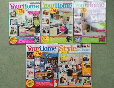 **used** bundle 'your home' & 'style at home' magazines inspiration house tips