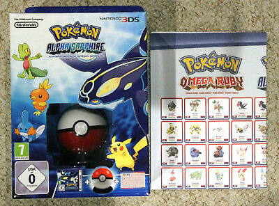 *no Game* Pokemon Alpha Sapphire 3Ds Limited Edition Box Poke Ball Toy & Poster