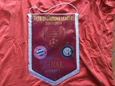 Gagliardetto Bayern Monaco-Inter Finale Uefa Champions League Madrid 2010 Triple