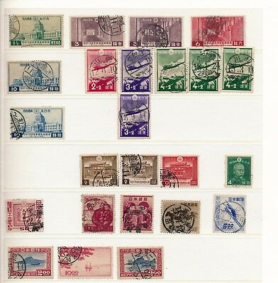 Japan. Stockpage of used stamps. Many fine cancelations #1