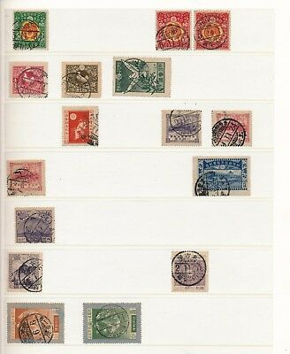 Japan. Stockpage of used stamps. Many fine cancelations #3
