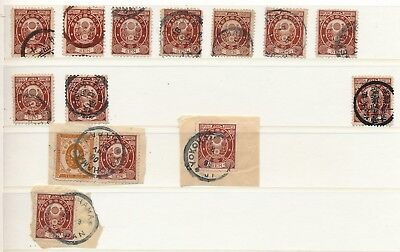 Japan. 1888/92. 50 s. brown. Stockpage with beautiful cancelations