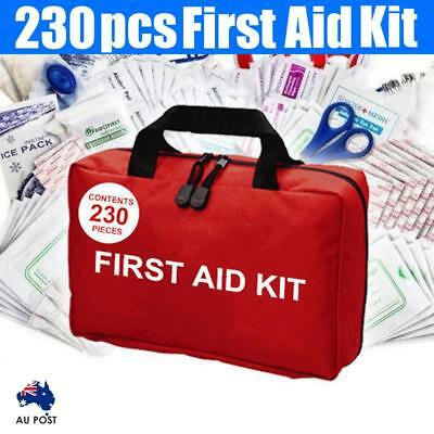 230 Pieces Emergency Family Home Travel Caravan First Aid Kit ARTG Registered