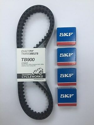 TB900 Exactfit Ducati Timing Belts & Tensioner Bearing SS900 ST2 Monster 900 etc