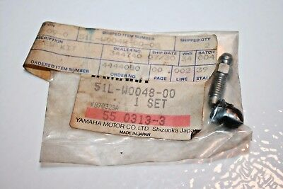 Nos Yamaha Motorcycle Brake Caliper Bleed Screw Kit 51L-W0048 Xj Xs Rz Tt Xt Xv