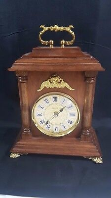 Quartz Mercedes of German Wood Cased Mantel Clock