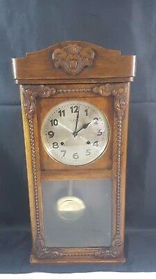 Majestic 30 Day Chiming Mechanical Wooden Cased Wall Clock